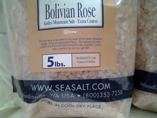 Соль боливийская розовая BOLIVIAN ROSE® ANDES MOUNTAIN SALT by Artisan COARSE GRAIN \5lb\(2.268 кг\