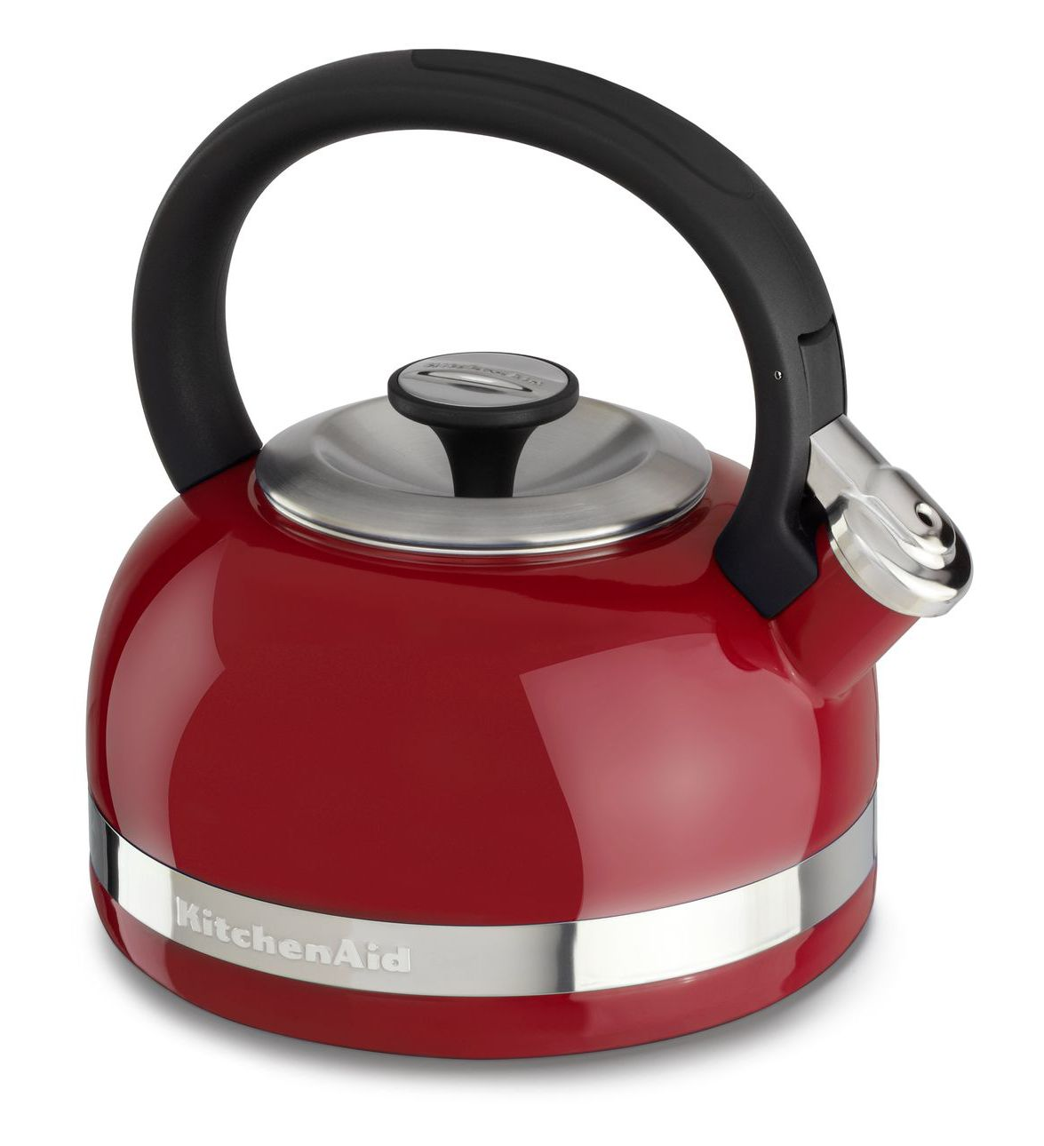 Чайник KitchenAid® 2-литра Porcelain Enamel Tea Kettle with Stainless Steel Handle Красный