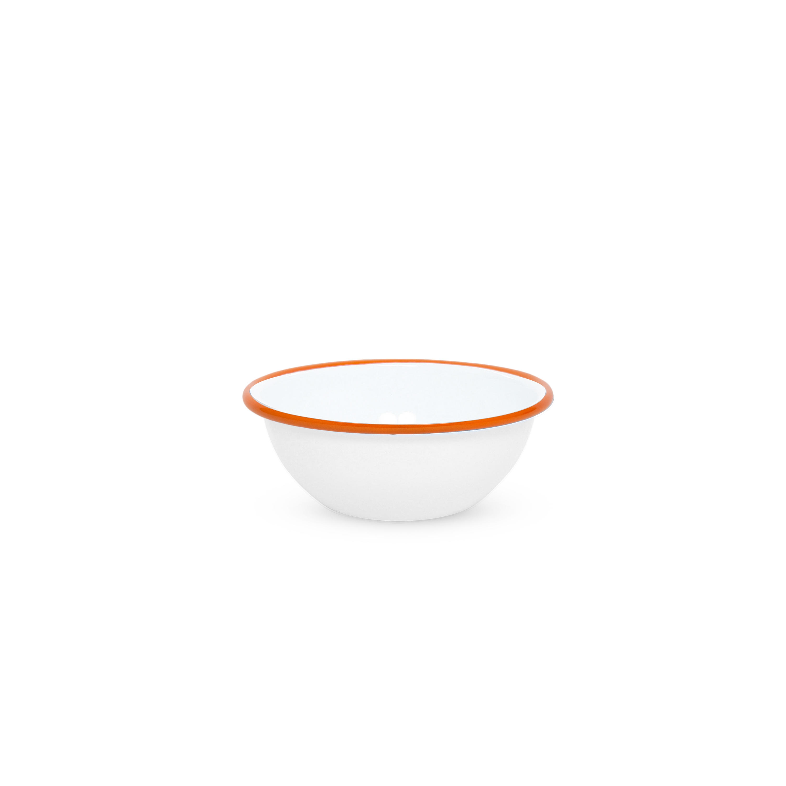 "Эмалированная миска белая с черной каймой 0,6л Crow Canyon Home CEREAL BOWL 5,5""(14см)#V17BLA"