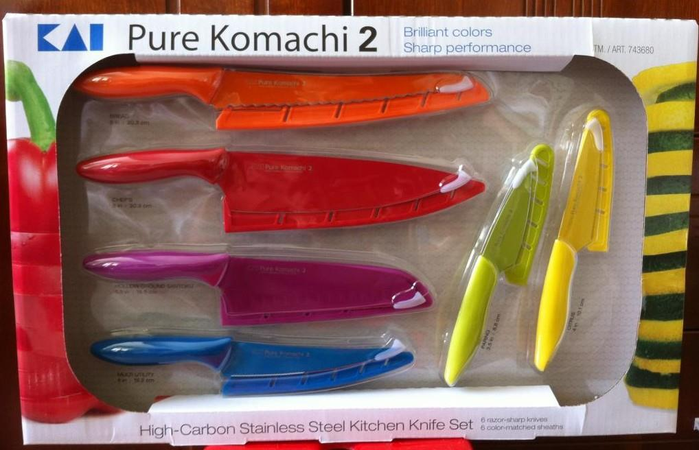 Комплект 6 ножей KAI Pure Komachi 2 high-carbon steel