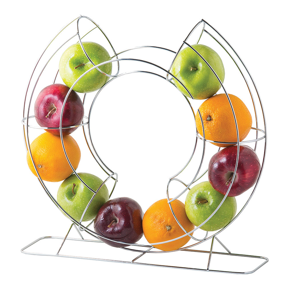 "Дисплей для фруктов Tablecraft Circular Fruit Basket 40см\15.75"" - Chrome \item# FO1515"
