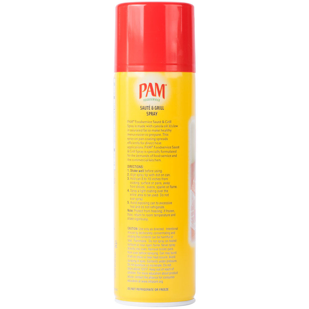 Масло спрей PAM 17 oz.\482грамм\ Saute & Grill Cooking Spray \Best By Jun 2019\