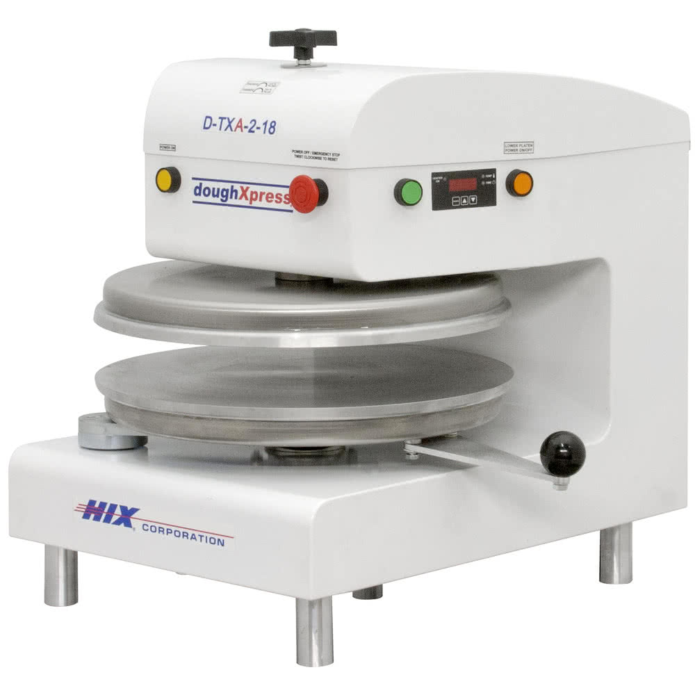 "Пресс для пиццы DoughXpress Automatic Tortilla Pizza Dough Press w/ Uncoated Platens, 220 V-45,2 см\18"" 220V #D-TXA-2-18-WH"