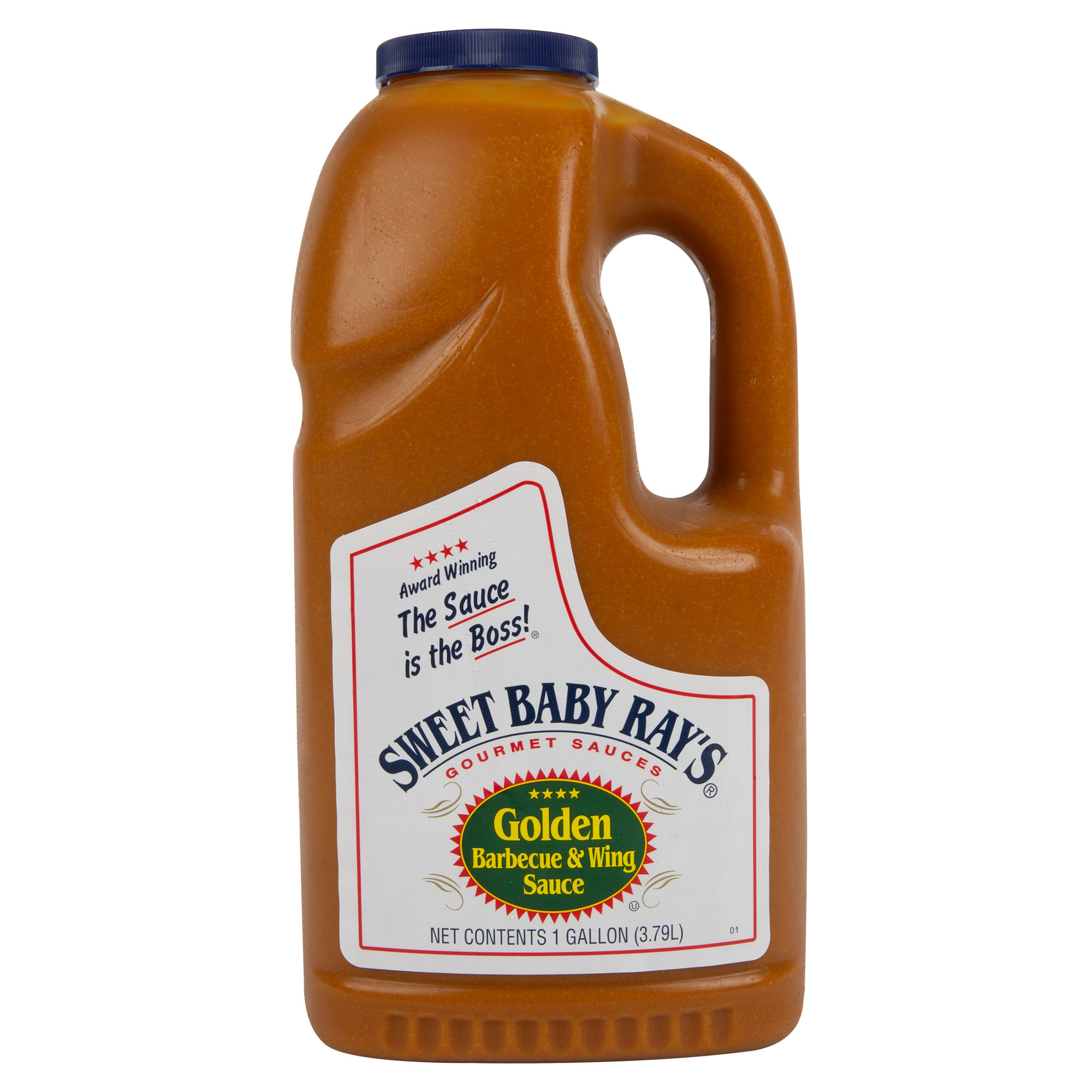 Соус золотое BBQ & крылышки Sweet Baby Ray's Golden Barbecue & Wing Sauce, 3,79литра\4,0 кг #5164993