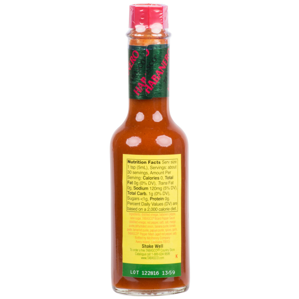 Соус Табаско- TABASCO® Habanero Hot Sauce 148мл\5oz Best before 06\2020 #125TB00610