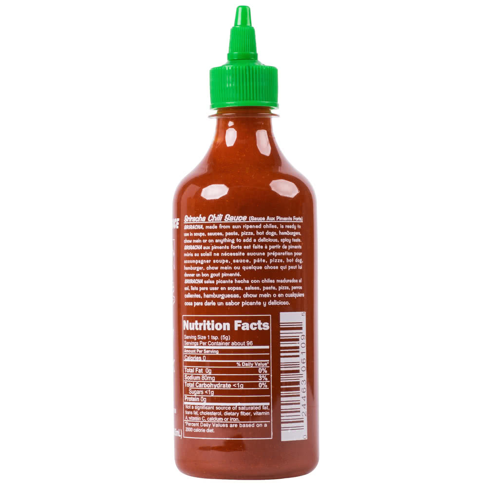 Соус сирача (ширача) Huy Fong Sriracha Hot Chili Sauce USA, 28oz\793гр\740мл Best before Jun 2022 #061163