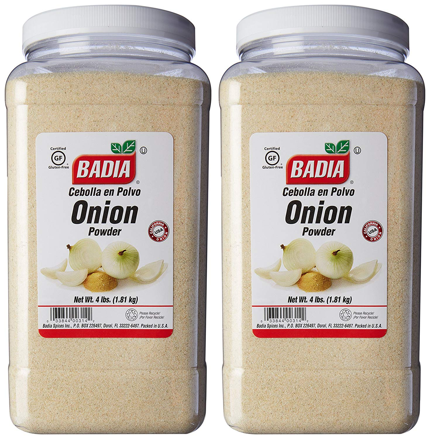 Лук экстра-тонкомолотый Badia Spices Fine Ground Onion 4lbs (1,814 кг) #00334