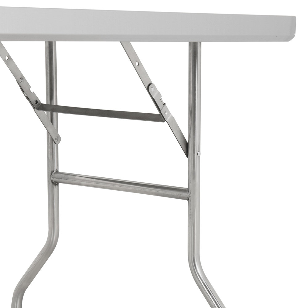 "Стол стальной, складной Regency 76х122см (30"" x 48"") Stainless Steel Open Base Folding Work Table #600FWT3048"