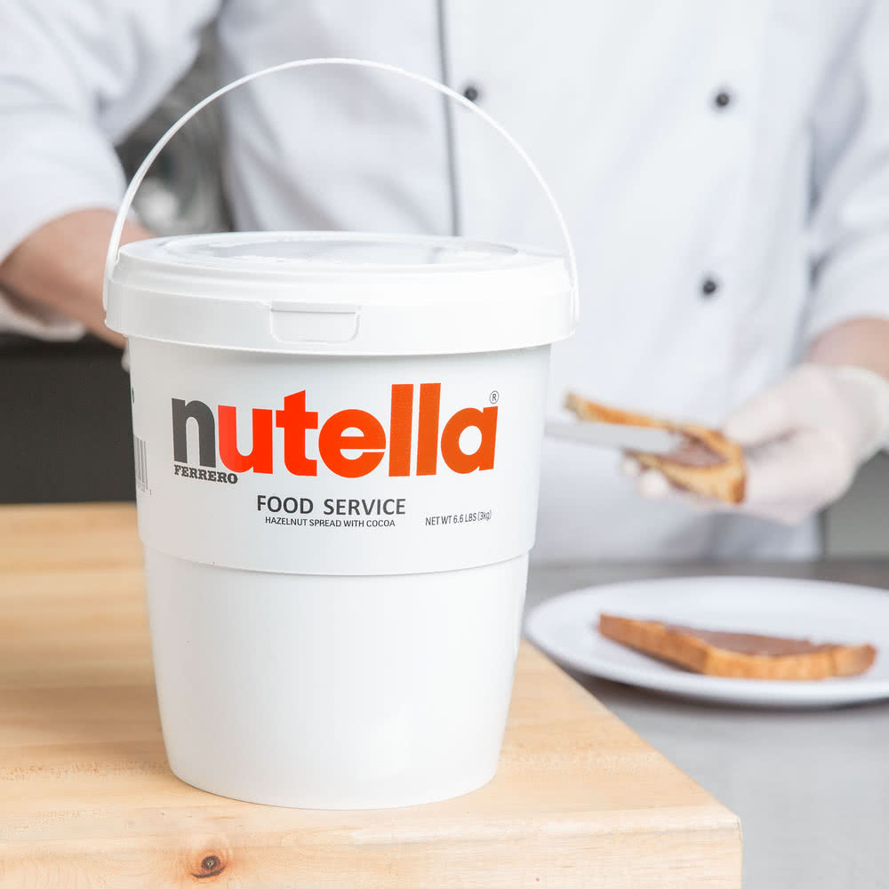 Нутелла- ореховый крем Nutella Hazelnut Spread with Cocoa Ferrero, 3 кг \Best before .....\ #999NUTELATUB