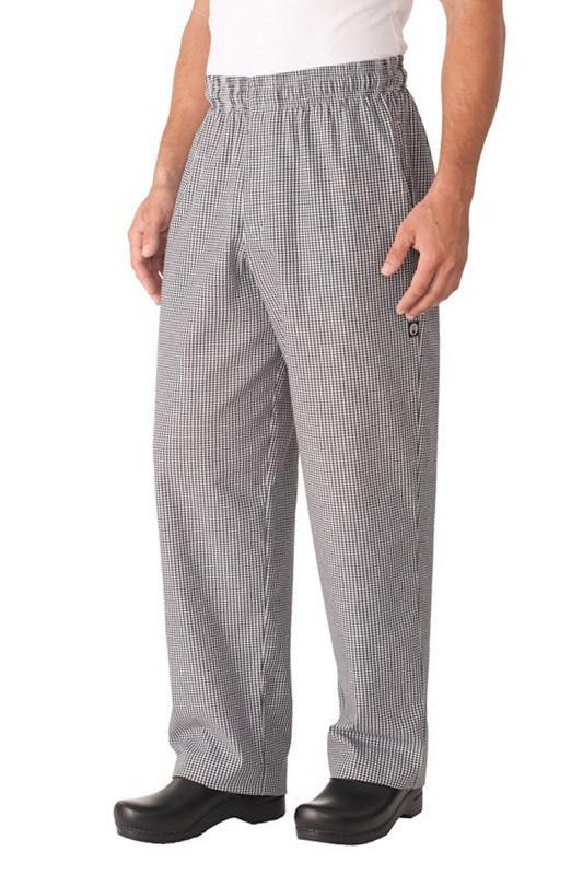 Поварские брюки Basic Chef Pants by Chef Works® в мелкую шахматку \Разм.XL, талия 107-112см\ #NBCPXL