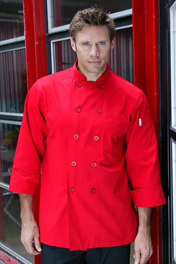 Китель повара Chef Works Nantes Basic Red Chef Coat красный (Размер S)